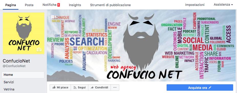 Pagina Facebook Header