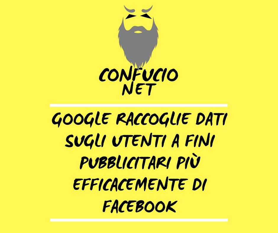 Dati raccolti Google