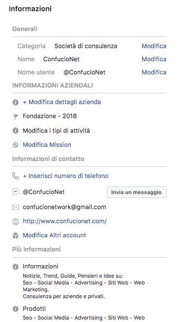 Creazione e gestione pagina Facebook 2 parte 5