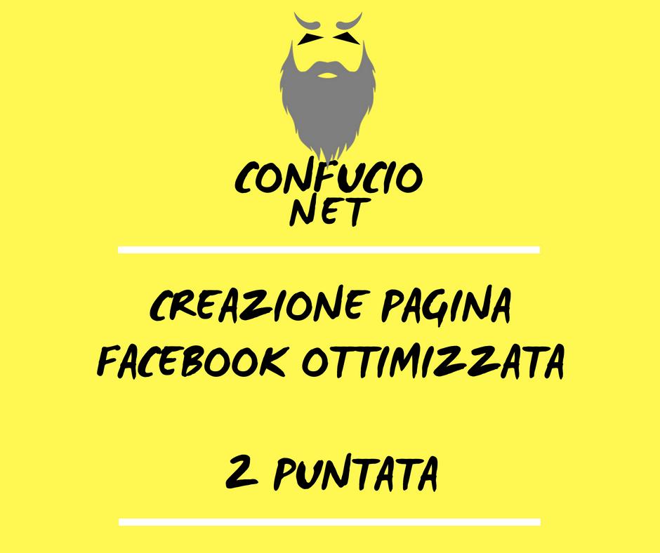 Creazione e gestione pagina Facebook 2 parte 1