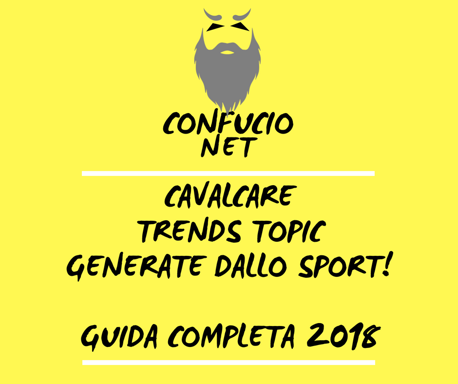 Cavalcare Trends Topic generate dallo sport. Guida completa 2018 2