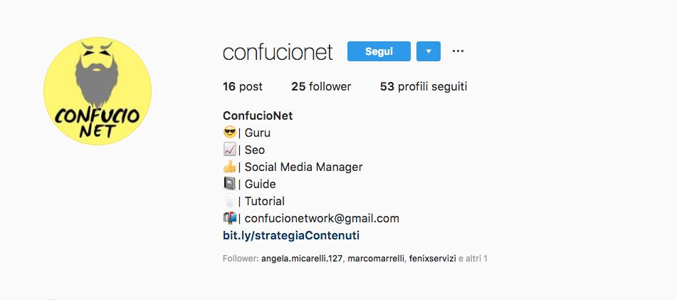 Bio ConfucioNet Instagram