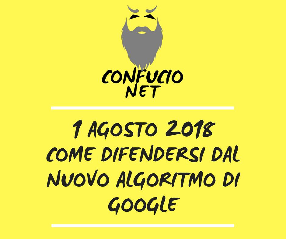 Aggiornamento Algoritmo Agosto 2018