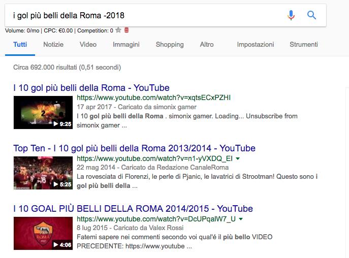 Google Footprints esclusione parola - COnfucionet