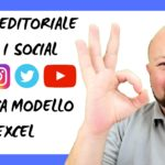 Come creare un calendario editoriale per i social media? Modello Excel