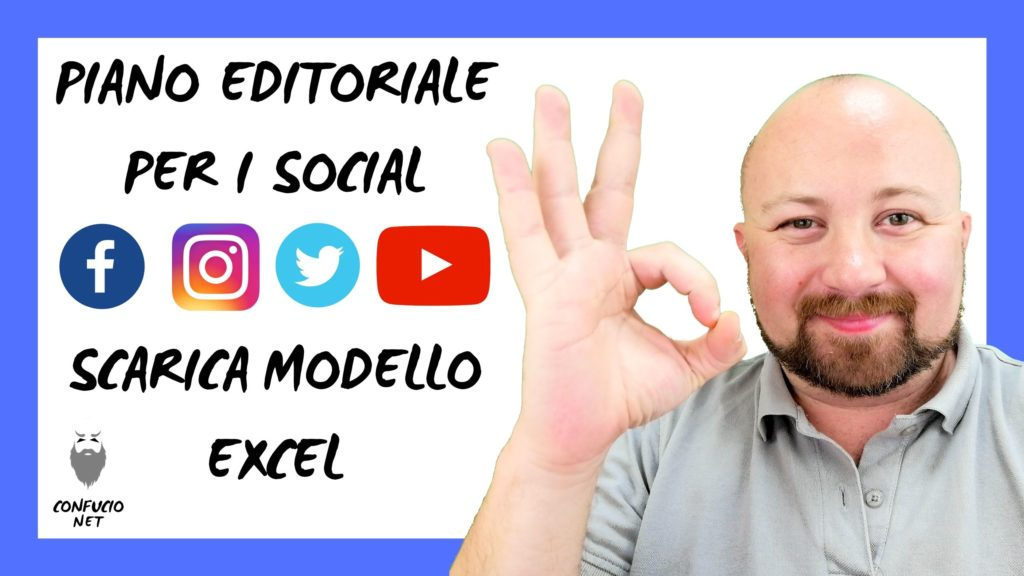 Piano Editoriale Social Network modelle excel