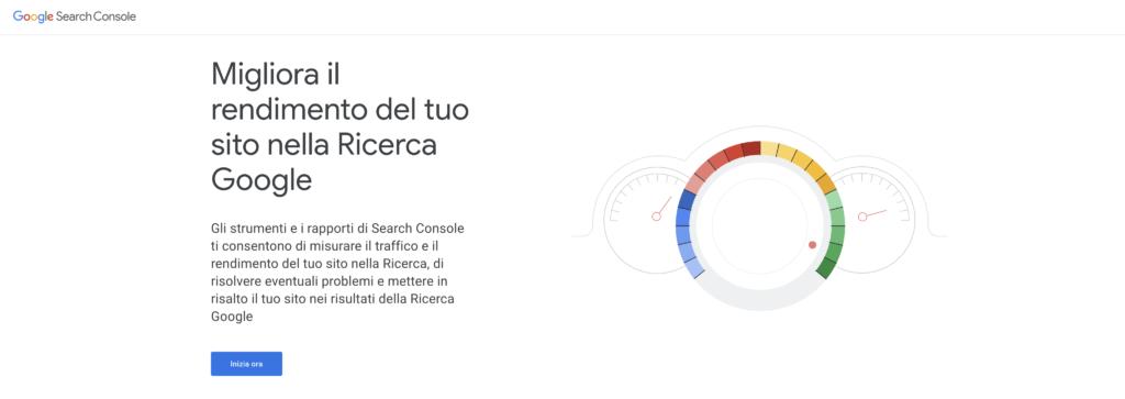 Google Search Console Pagina Iniziale