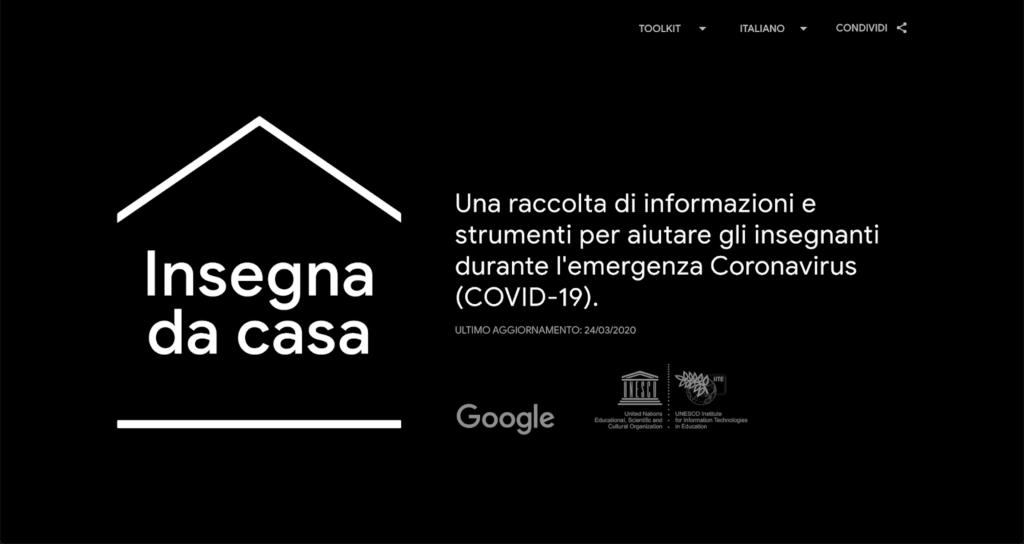 Google Insegna da casa