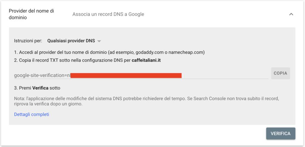 Verifica Record DNS