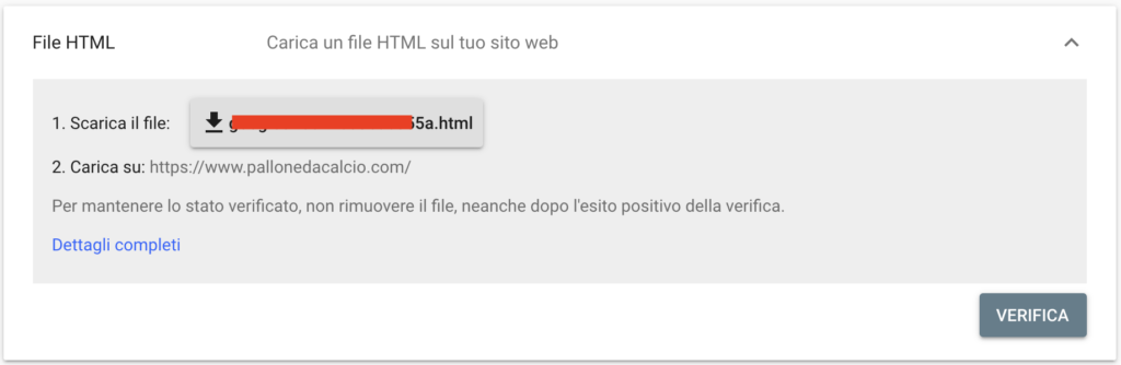 Verifica Sito File Html