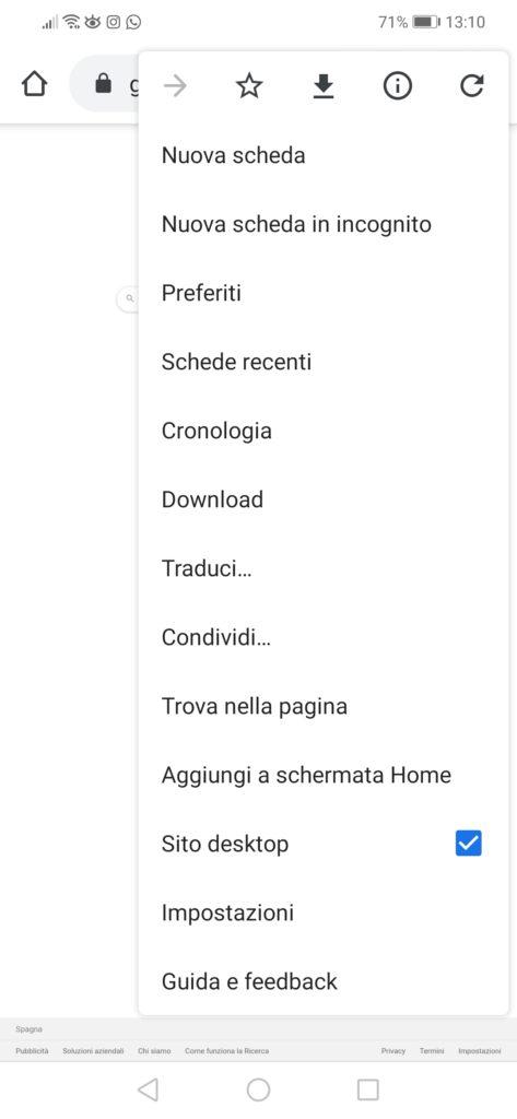 Google Immagini Android Chrome