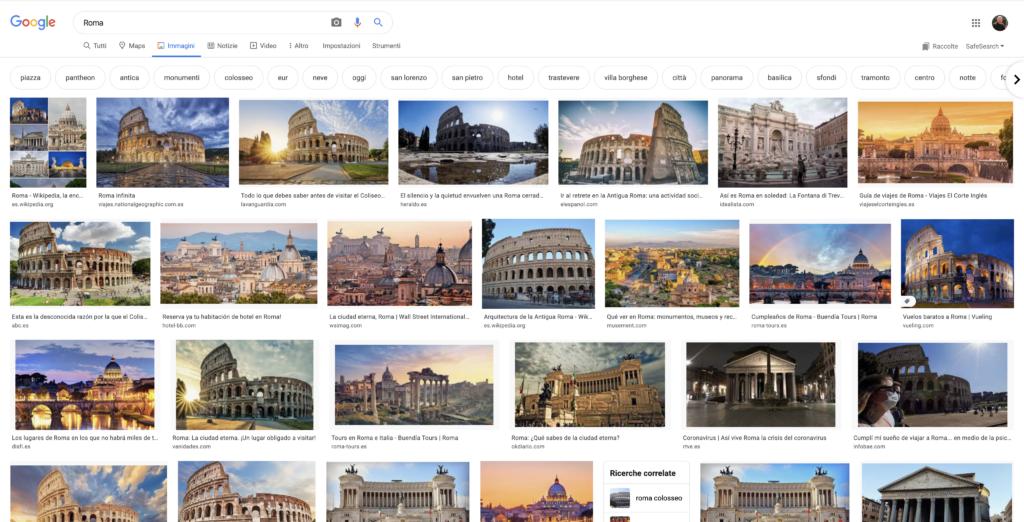 Ricerca Google Immagini Roma
