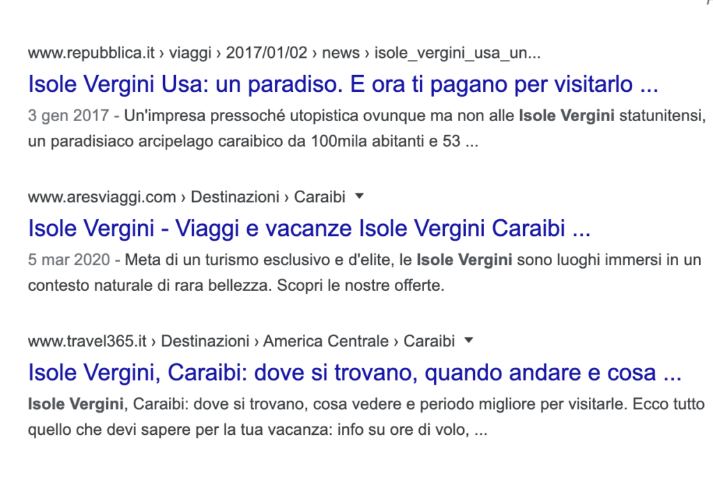 Titoli SERP Google