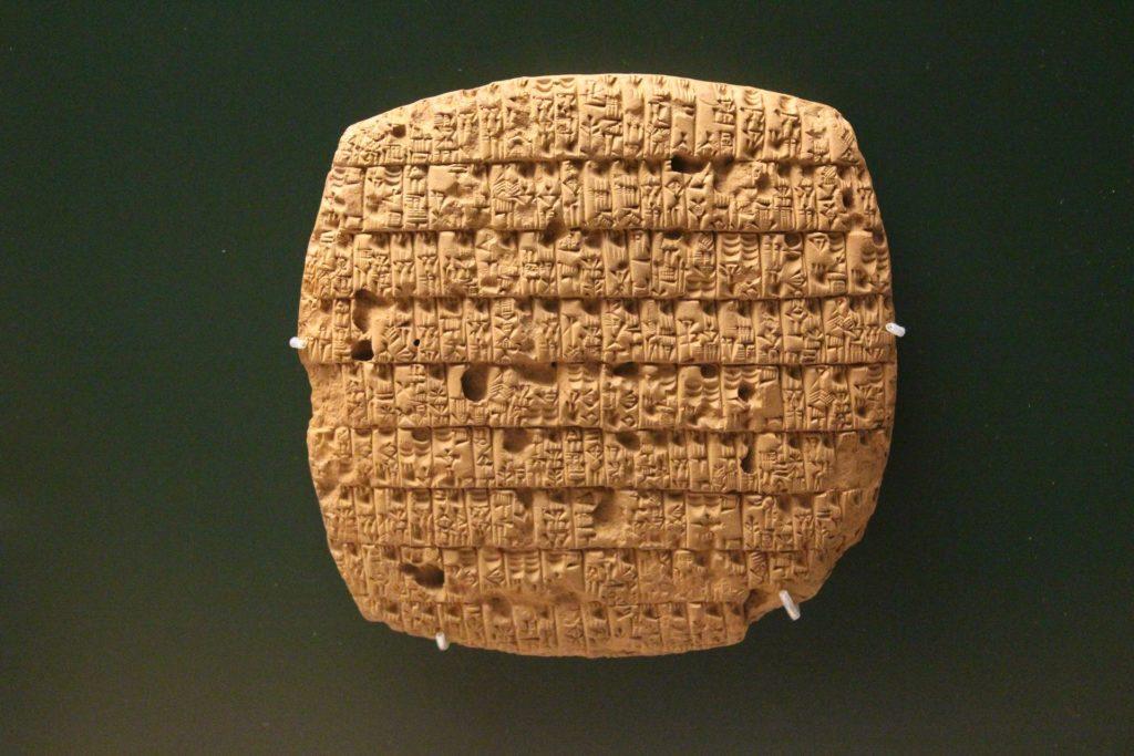 scrittura Mesopotania