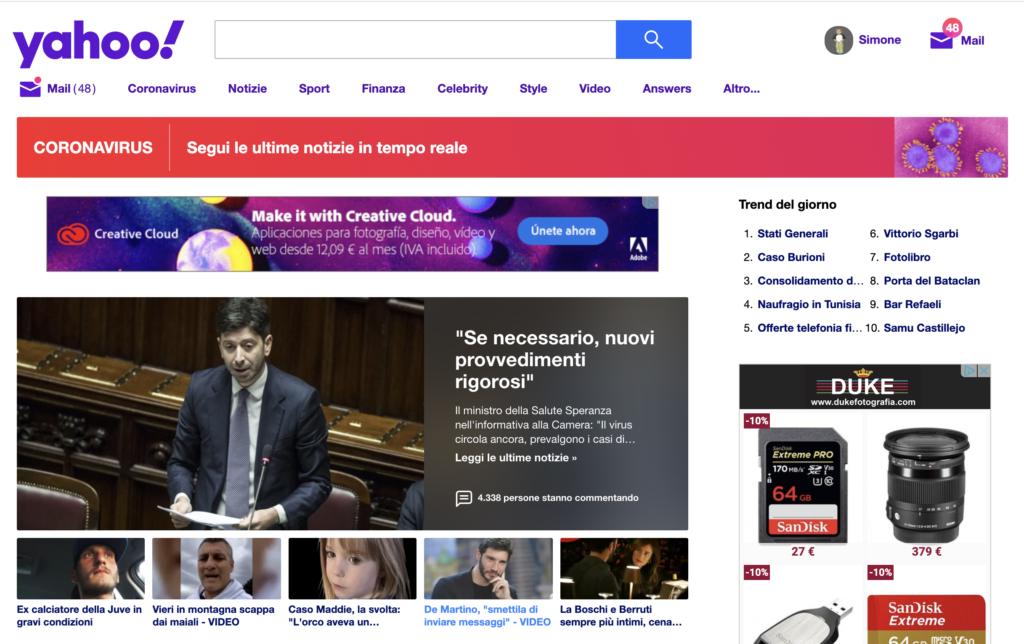 Motore di Ricerca Yahoo