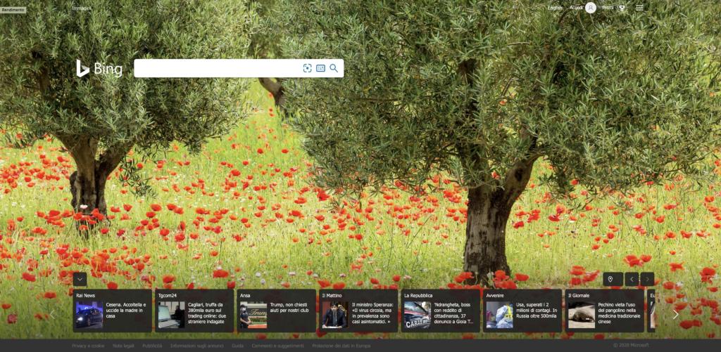 Motore di ricerca Bing