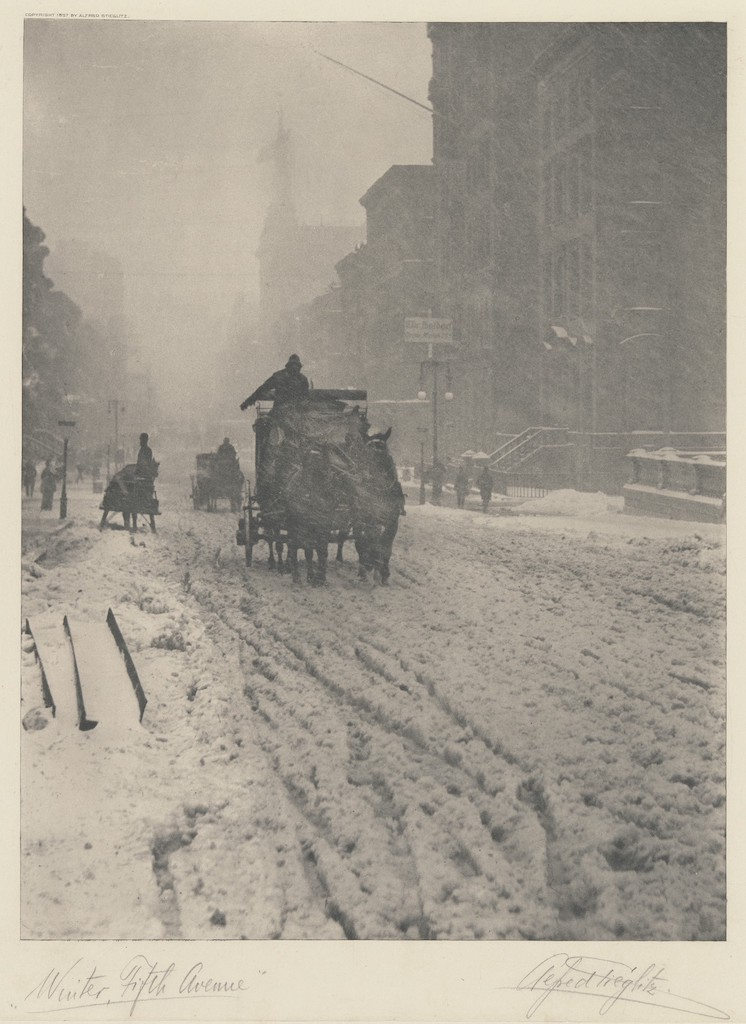 Winter on Fifth Avenue - Stieglitz