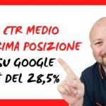 Il CTR medio in prima posizione su Google è del 28,5% – Studio lo dimostra