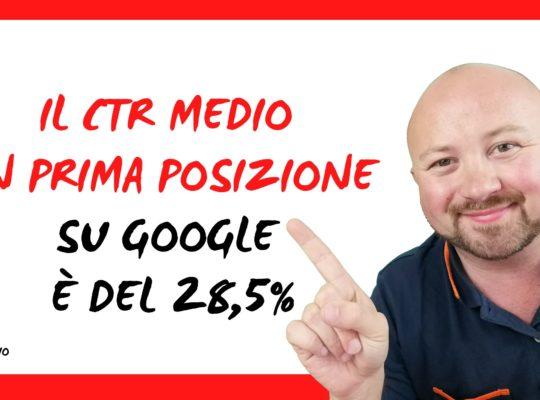Il CTR medio in prima posizione su Google è del 28,5% - Studio lo dimostra 5