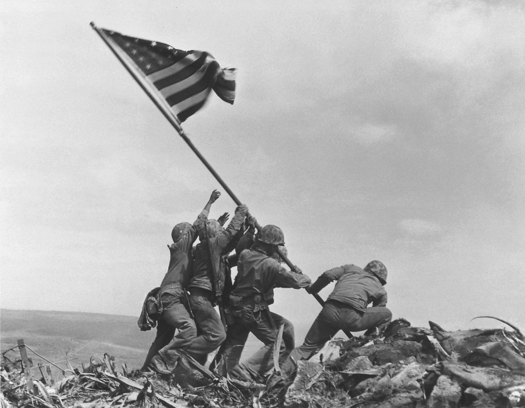 Raising the Flag on Iwo Jima 1945 - Joe Rosenthal