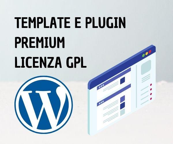 TEMPLATE E PLUGIN WORDPRESS PREMIUM GPL