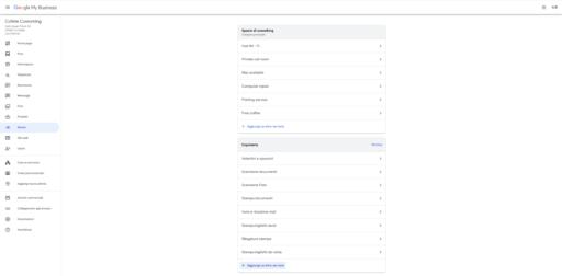 Impostazione Servizi Google My Business